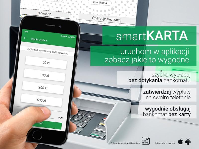 smartKARTA wypłata z bankomatu bez karty